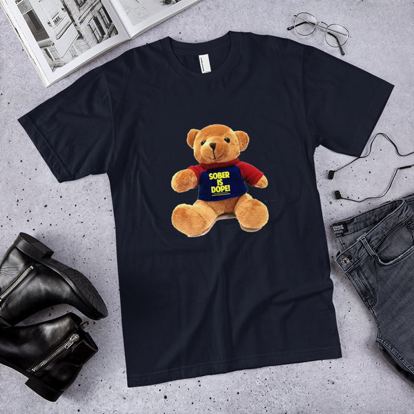 Sober is Dope Teddy T-Shirt Supports Children of Alcoholics