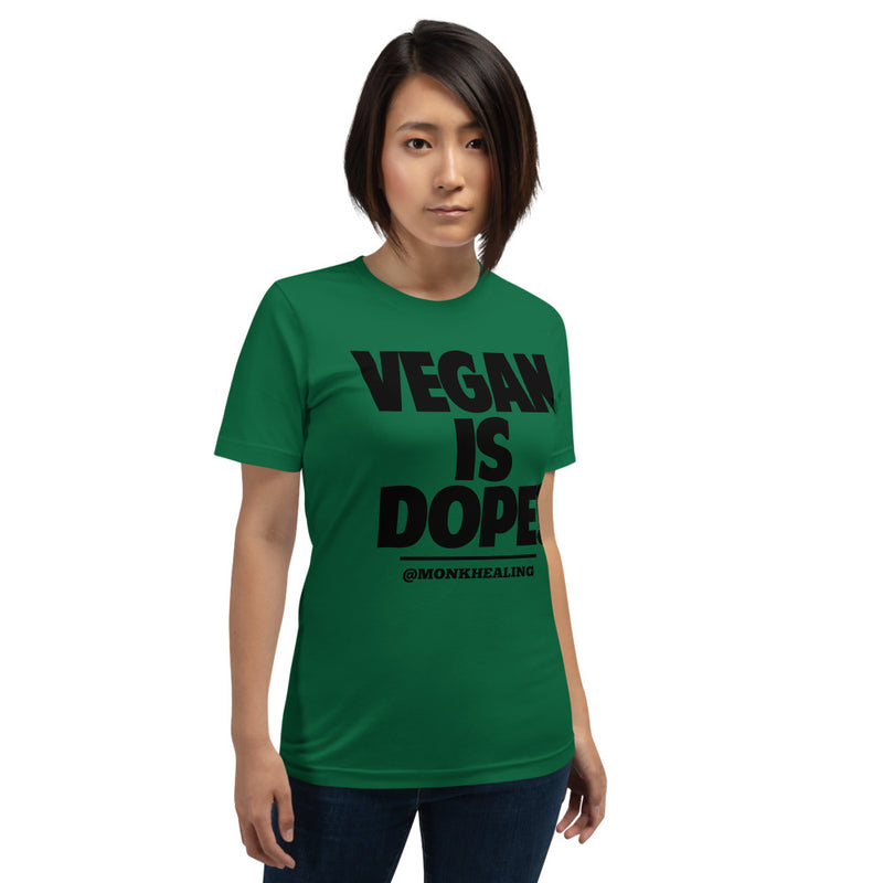 Vegan Is Dope Short-Sleeve Unisex T-Shirt - Sober Is Dope