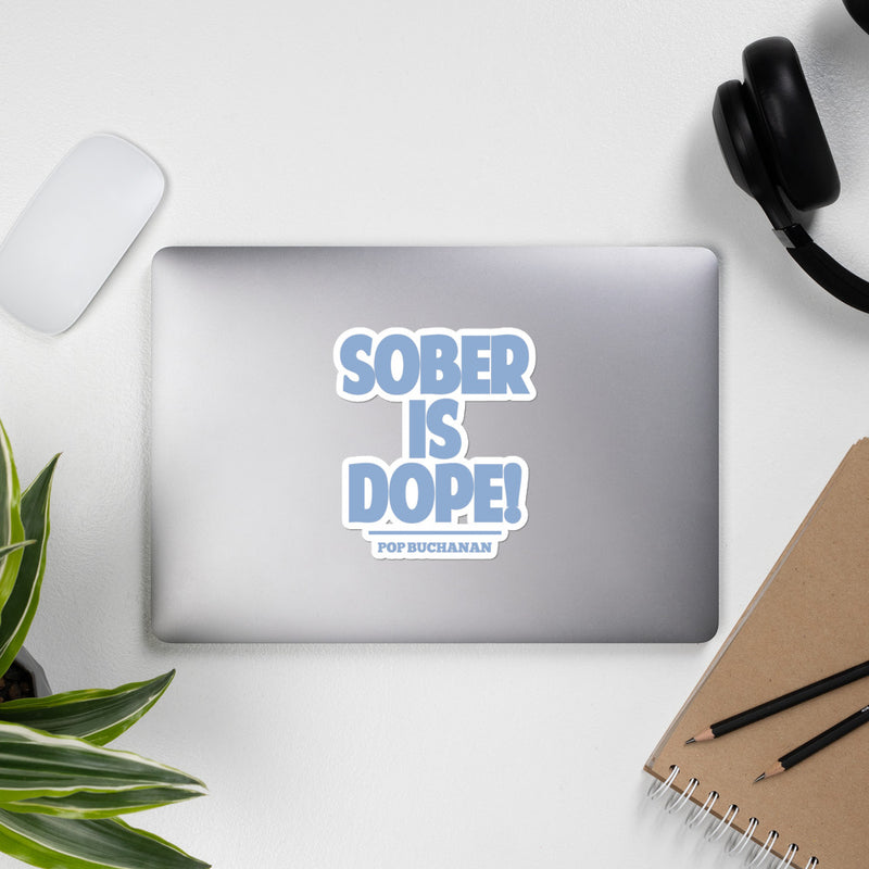 Sober Is Dope Blue Bubble-Free Sticker - Sober Is Dope