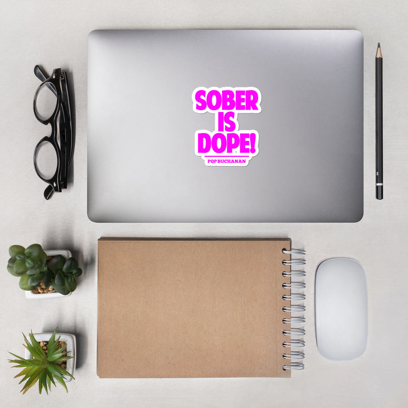 Sober Is Dope Pink Bubble-Free Sticker - Sober Is Dope