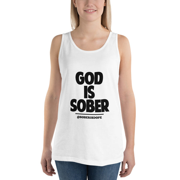 God is Sober Unisex Tank Top