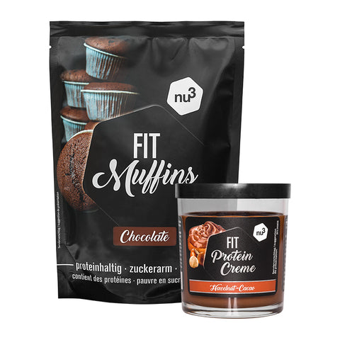 nu3 Fit preparato per muffin proteici + nu3 Fit crema proteica