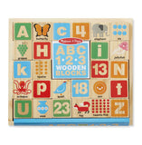 Alphabet 123 Wooden Blocks