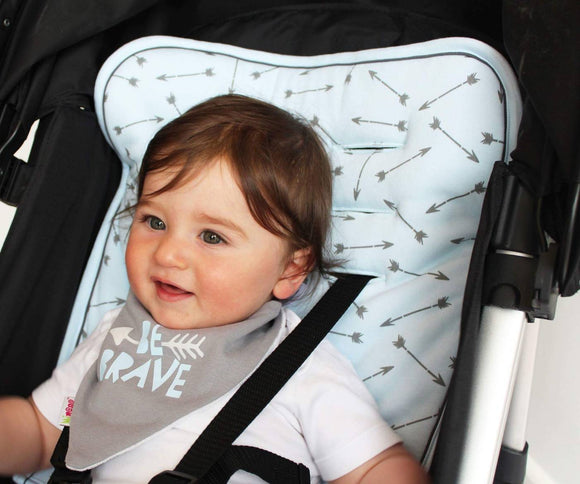 Reversible Pushchair & Car Seat Liner Set - Jersey Cotton!