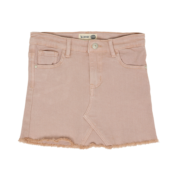Skirt With Cut J, Jeans - Pink