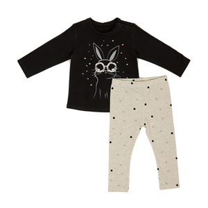 Shirt & Tights Set KC- Charcoal Gray