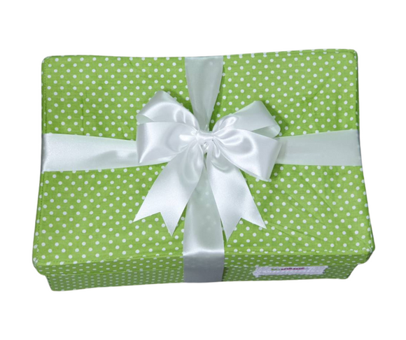 Unique Newborn Gift Box - Green Poka dot