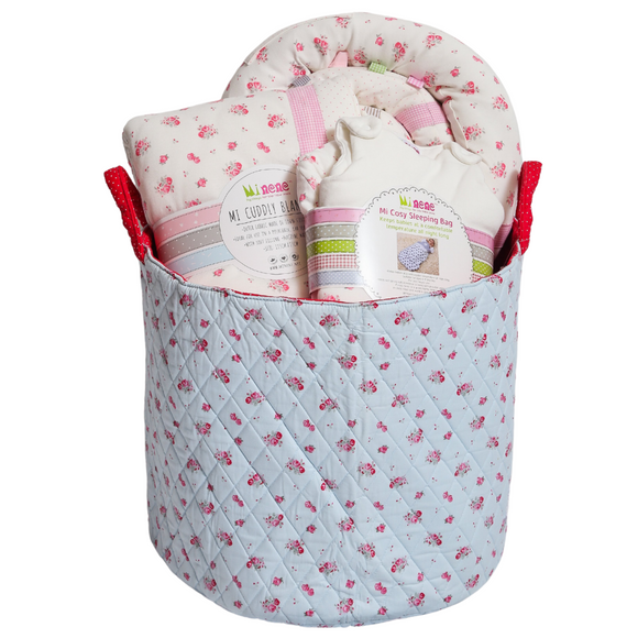 Baby Girl Gift Basket - Cream Pink Floral