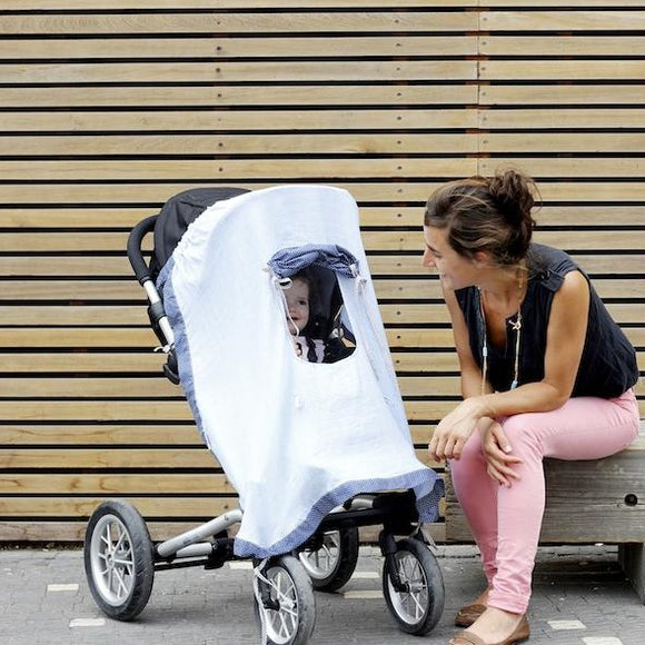 Muslin Pushchair Sunshade