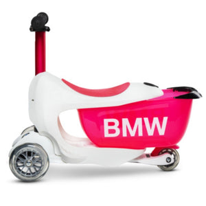 BMW KIDS SCOOTER - WHITE RASPBERRY RED