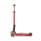 MAXI MICRO DELUXE FOLDABLE LED SCOOTER - Red