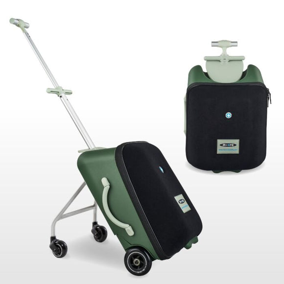 MICRO EAZY RIDE ON 3IN1 SUITCASE - GREEN