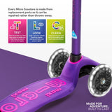 MAXI MICRO DELUXE LED SCOOTER - PURPLE