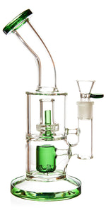 "11"" Rig w/ Showerhead + Hammer Perc, by Diamond Glass - Bat Kountry"