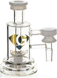 Ash Catcher w/ 14mm Joint, 90˚ Angle, Showerhead Perc, Solid Base, by Diamond Glass - Bat Kountry