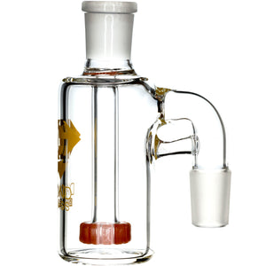 Ash Catcher w/ 18mm Joint, 90˚ Angle, Showerhead Perc. by Diamond Glass - Bat Kountry- shipping in stock items during COVID-19