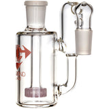 Ash Catcher w/ 18mm Joint, 90˚ Angle, Showerhead+ Recycler Perc, by Diamond Glass - Bat Kountry- shipping in stock items during COVID-19