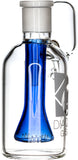 Ash Catcher w/ 18mm Joint, 90˚ Angle, Blue Showerhead, by Diamond Glass - Bat Kountry- shipping in stock items during COVID-19