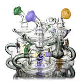 "6"" Compact Rig w/ Showerhead Recycler, by Diamond Glass (free banger included) - Bat Kountry- shipping in stock items during COVID-19"
