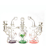 "7"" Orb Recycler Rig, by Diamond Glass (free banger included) - Bat Kountry"