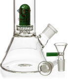 "10"" Skinny Neck Beaker Bong w/ showerhead UFO perc + splashguard, by Diamond Glass - Bat Kountry- shipping in stock items during COVID-19"