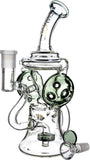 "9"" Rig w/ Headphones Swiss Recycler, by Diamond Glass (free banger included) - Bat Kountry- shipping in stock items during COVID-19"