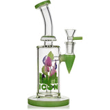 "9"" Leaf Rig, by ICON Glass (free banger included) - Bat Kountry"
