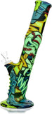 "13"" Silicone Bong w/ Comic, Cash or Camouflage Graphics - Bat Kountry"