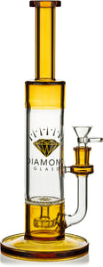 "12"" Showerhead to Honeycomb Skinny Neck Bong, by Diamond Glass (Free Banger included) - Bat Kountry- shipping in stock items during COVID-19"