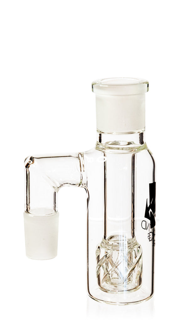 Ash Catcher w/ 18mm Joint, 90˚ Angle, Reti Perc, by Diamond Glass - Bat Kountry- shipping in stock items during COVID-19