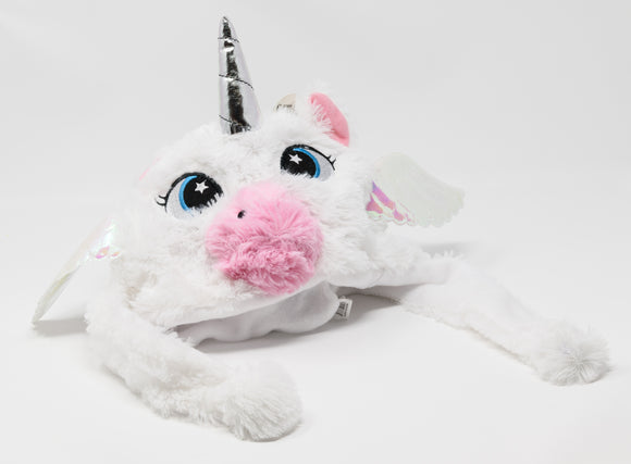 Fluffy White Unicorn Laplander Beanie - Bat Kountry