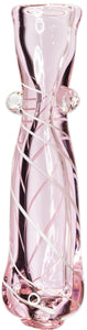 Pink Bow Glass Chillum - Bat Kountry