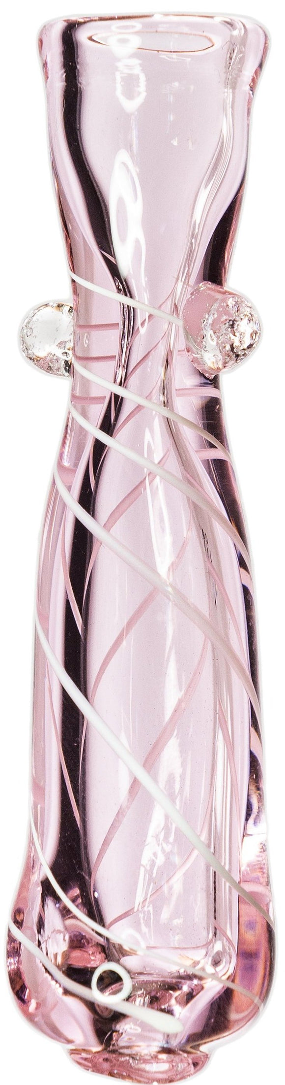Pink Bow Glass Chillum - Bat Kountry- shipping in stock items during COVID-19