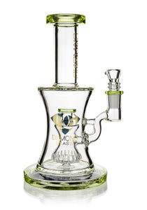 "8"" Hourglass Rig w/ Showerhead Perc, by Diamond Glass (free banger included) - Bat Kountry- shipping in stock items during COVID-19"