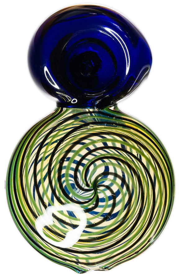 Hypnotic Eight Spoon Hand Pipe - Bat Kountry- shipping in stock items during COVID-19