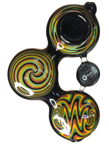 Triple Swirl Galaxy Spoon Hand Pipe - Bat Kountry