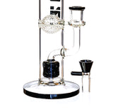 "16"" Highlife Straight Tube Bong w/ Sponge Perc, by ICON Glass - Bat Kountry- shipping in stock items during COVID-19"