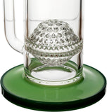 "16"" Showerhead Ratchet Perc Honeycomb Bong, by Diamond Glass - Bat Kountry- shipping in stock items during COVID-19"
