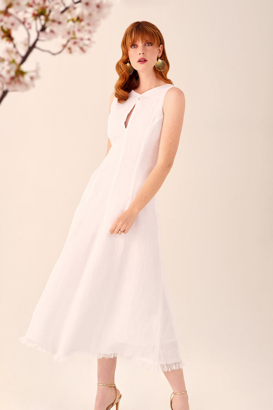 Soiree Linen Dress