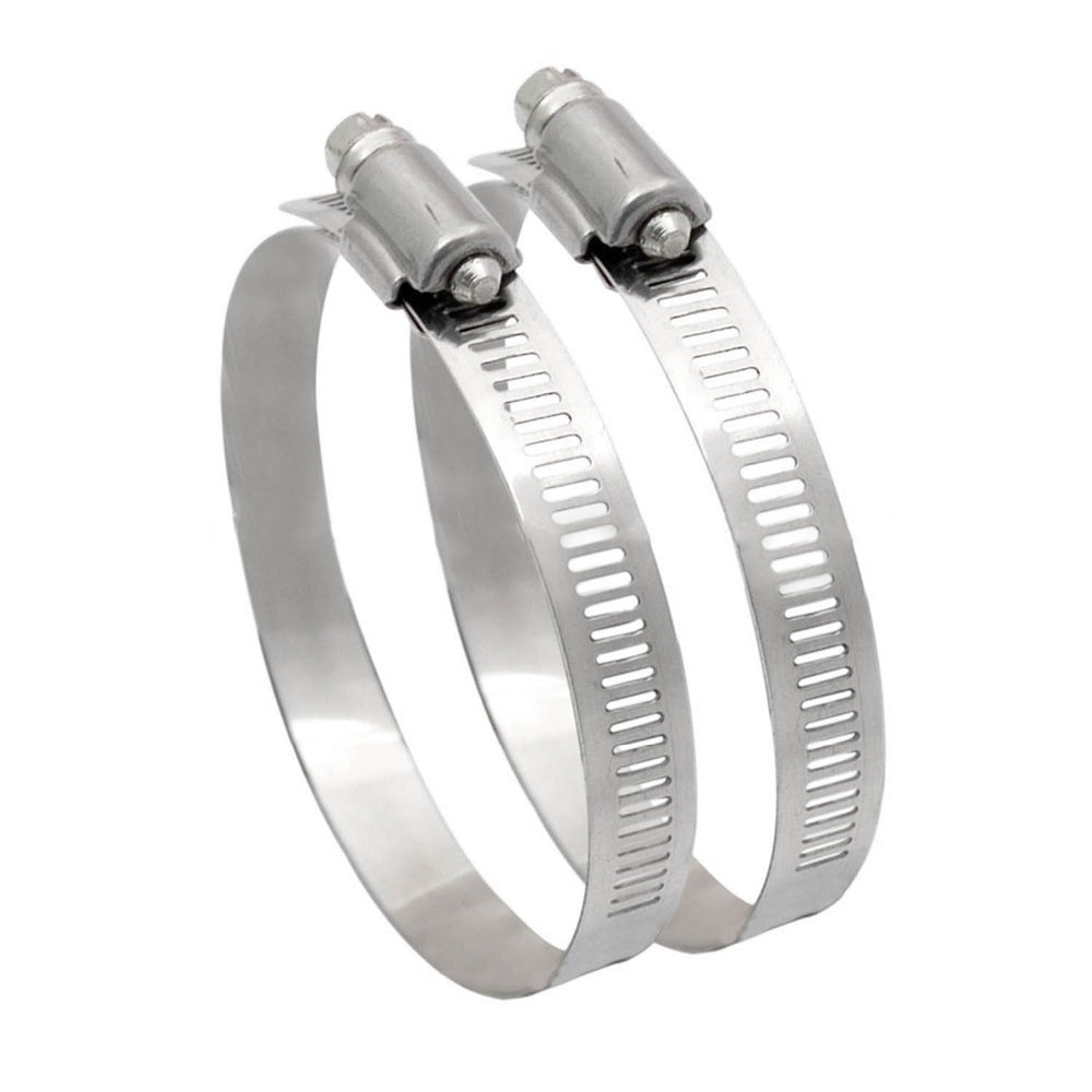 /></strong></p> <p><strong>Product Description:</strong><br> HIGH QUALITY- The whole hose clamp,including the band, housing and screw are all made of premium stainless steel material. Salt resistant, anti rust, anti-corrosion, waterproof, oil-proof. Clamps are sturdy, strong and reliable.<br> WIDELY USED- Clamps are used in securing hoses, pipe, cable, tube, fuel lines etc. Perfect to apply in automotive, industrial, boat/marine, shield, household etc. both indoor and outdoor.<br> ENVIRONMENTAL FRIENDLY- It can be reused and recycled if you do not want them to stay on the original place due to the high quality material which makes them worked last for long.</p> <p><strong>Flex Ducting 4 in x 25 ft</strong></p> <p><strong><img src=