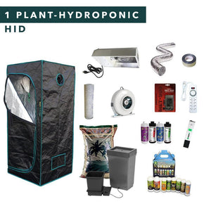 2' X 2' HID Hydroponic Complete Indoor Grow Tent Kits for 1 Plant