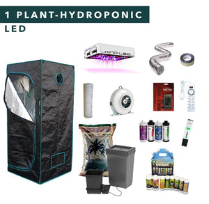 2' X 2' LED Hydroponic Complete Indoor Growing Starter Kit For 1 Plant