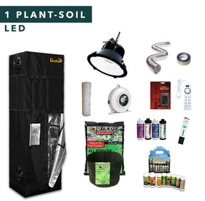 2' X 2' LED Soil Complete Indoor Grow Tent Kits for 1 Plant