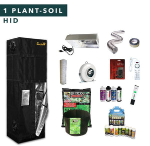 2' X 2' HID Soil Complete Indoor Growing Starter Kit For 1 Plant