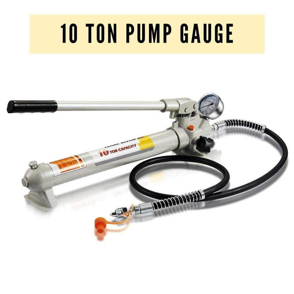 hydraulic hand pump with pressure gauge