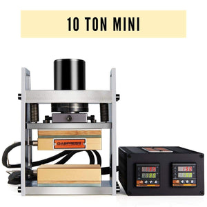 10 Ton  Mini Rosin Press - Made of Stainless Steel and Dual Heated Platens with 10 Ton Cylinder | Dabpress