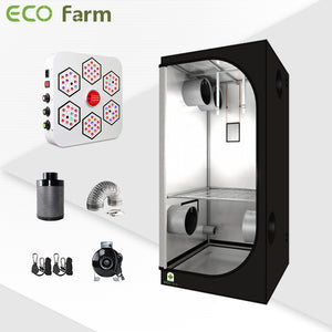 Eco Farm 3'*3' Essential LED Indoor Grow Package for 2 Plants