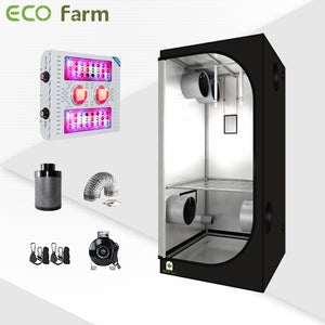 Eco Farm 3'*3' Essential COB LED Grow Package for 2 Plants