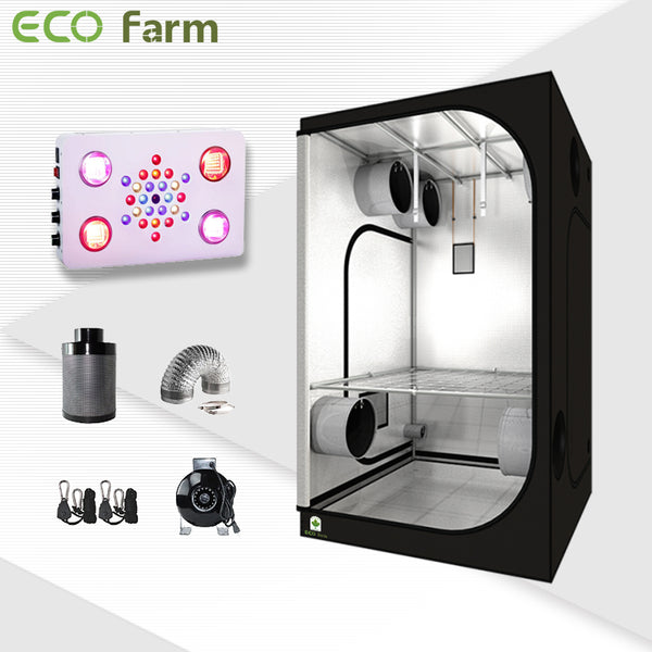 Eco Farm 4'*4' Essential 525W LED Grow Package for 4 Plants