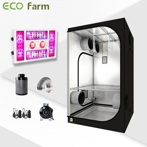Eco Farm 4'*4' Essential 680W LED Grow Package for 4 Plants